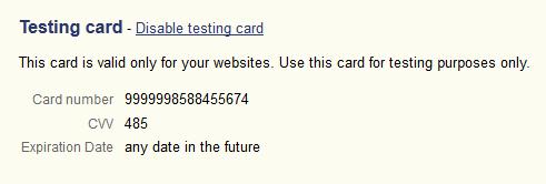 TestingCard