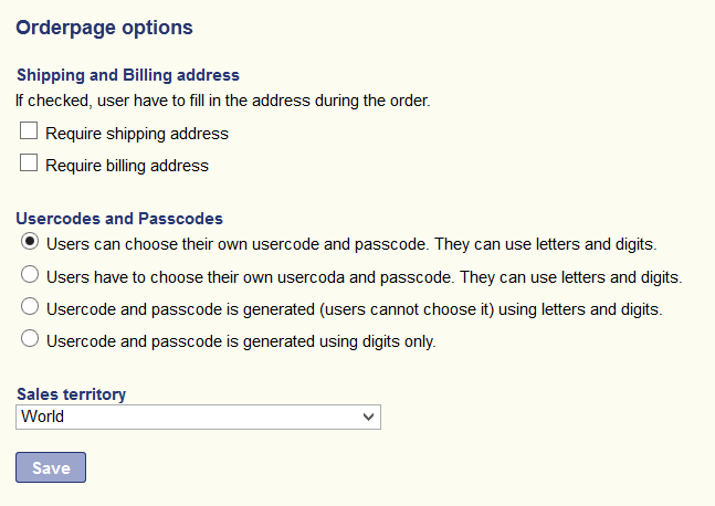 OrderpageOptions
